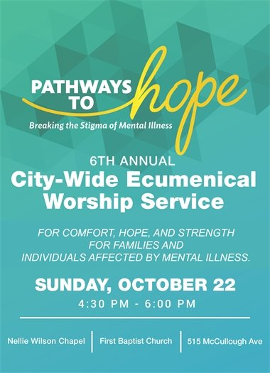 Pathways to Hope - City-Wide Ecumenical Worship Service  - Oct. 22, 2017