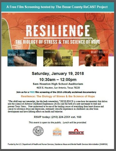 Resilience - The Biology of Stress & The Science of Hope - Jan. 19, 2019