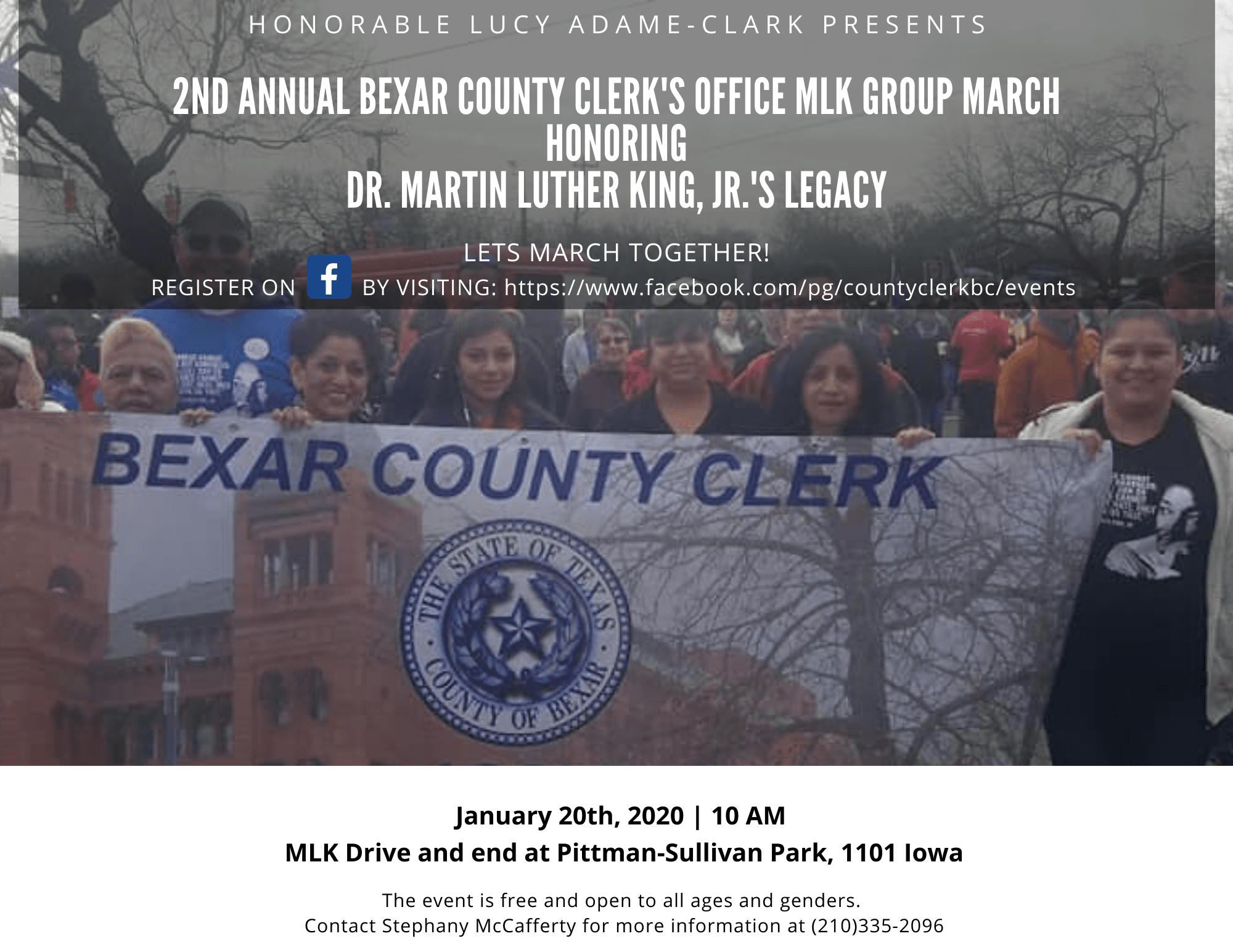 2nd Annual Bexar County Clerk's Office MLK Group March Invitation
