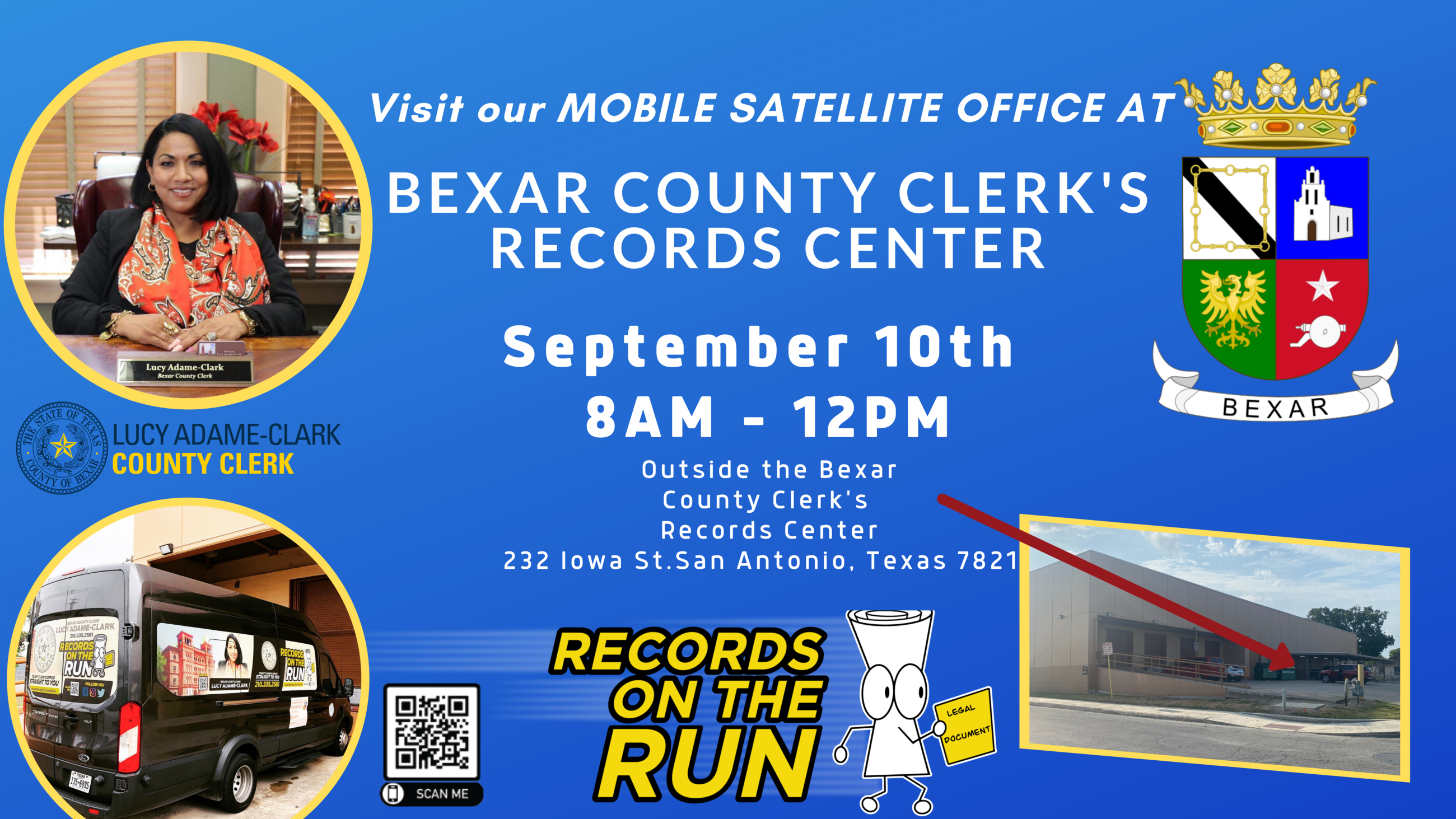 Mobile Satellite Office at Records Center Flyer