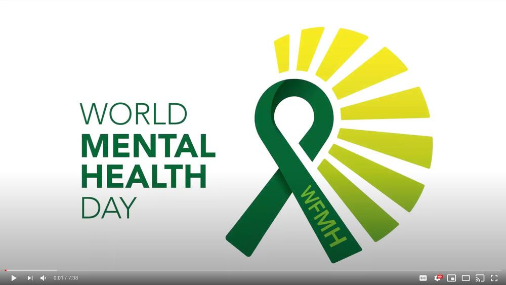 Click to watch World Health Mental Health Day video Opens in new window