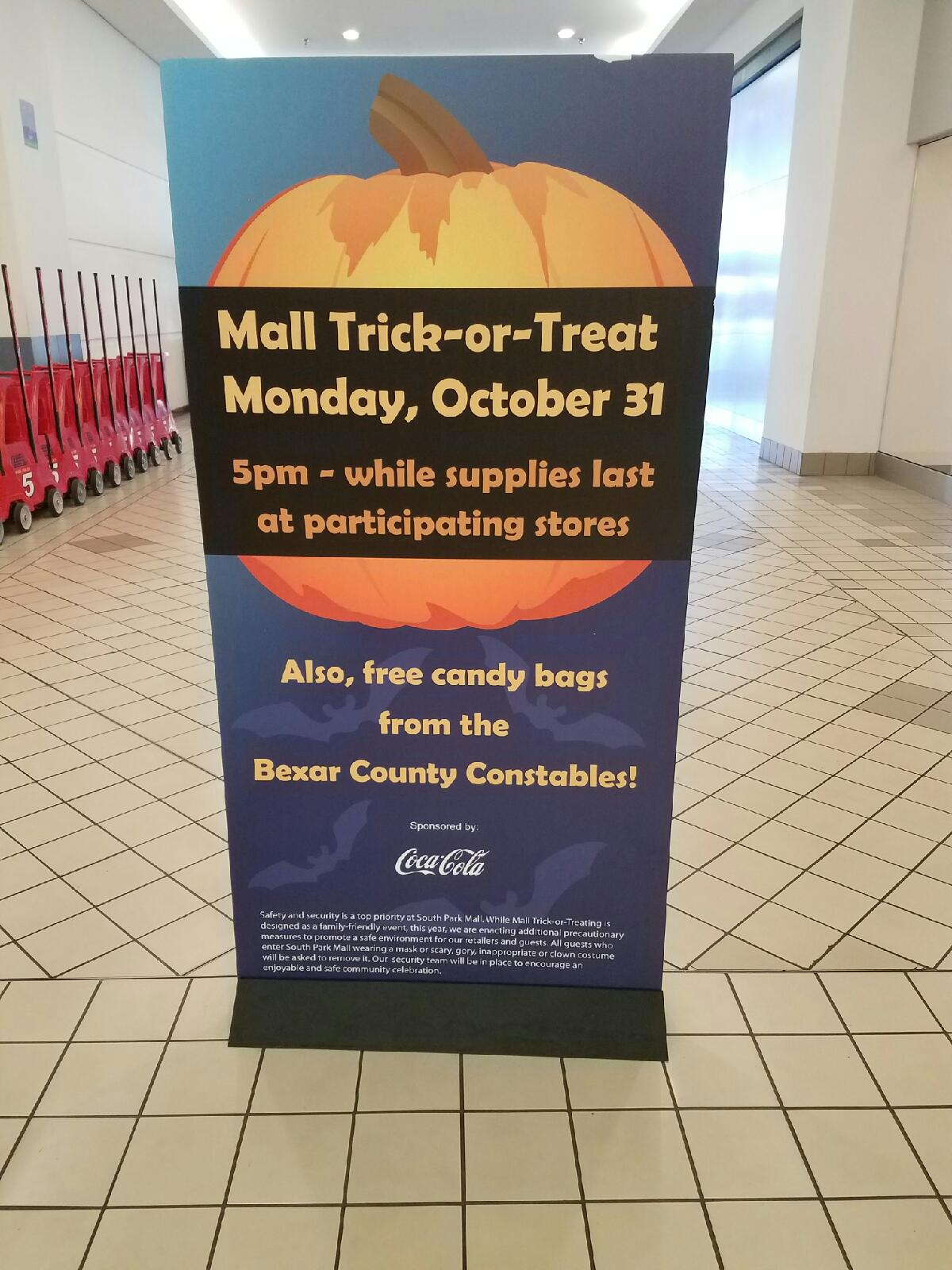 Constable's Office Pct. 1 Halloween Candy Give Away